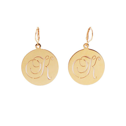 I found this at #moonandlola - Beso Pierced Disc Dangle Earrings