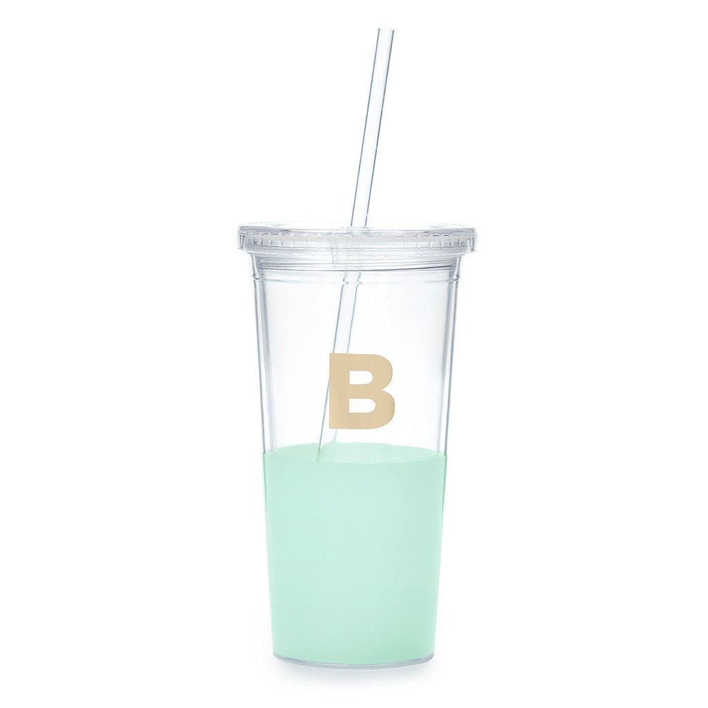 "Moon and Lola - Kate Spade Dipped ""B"" Tumbler"