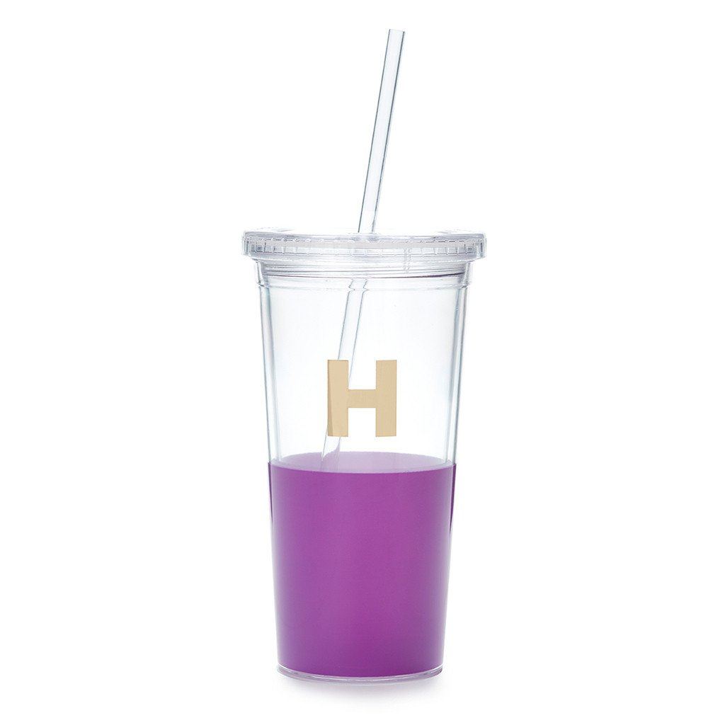 "Moon and Lola - Kate Spade Dipped ""H"" Tumbler"