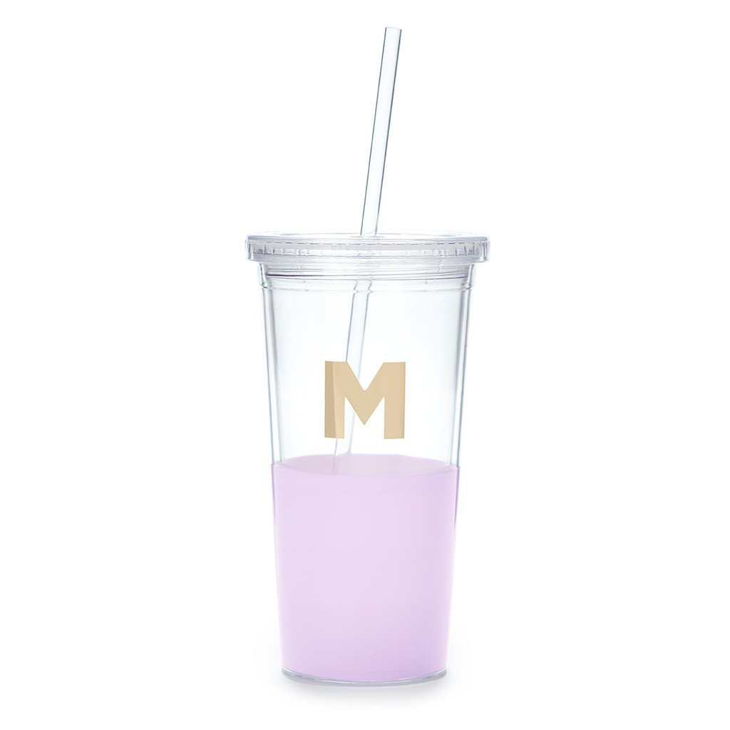 "Moon and Lola - Kate Spade Dipped ""M"" Tumbler"