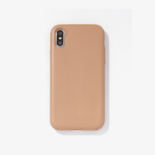 Moon and Lola - Sonix iPhone X Tan Vegan Leather Case