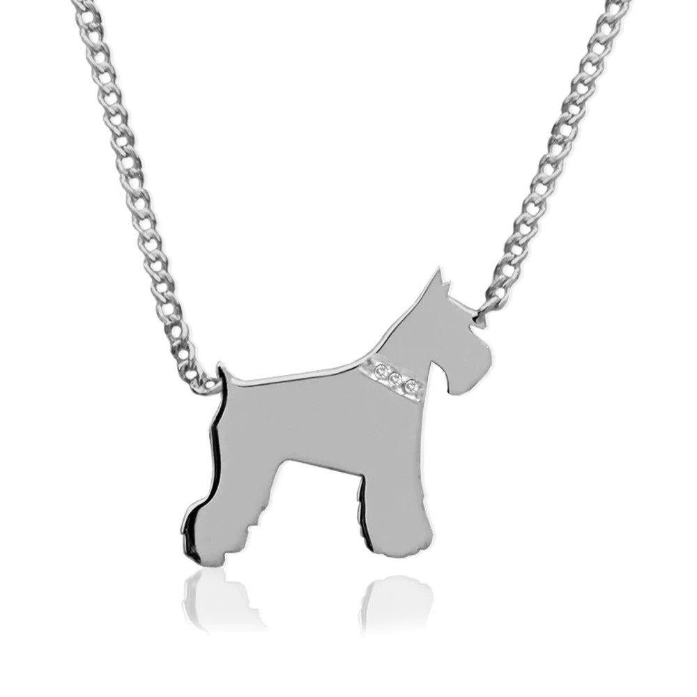 Moon and Lola - Petit Bijou Necklace With Diamonds silver schnauzer