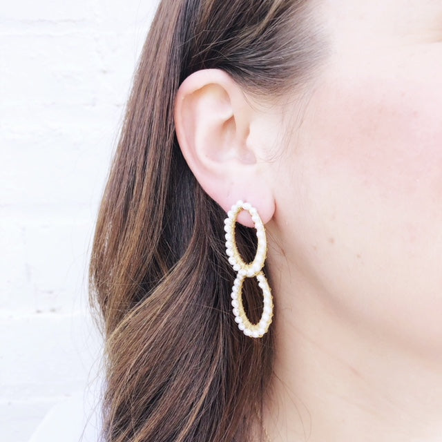 Moon and Lola - Papeete Pearl Earrings
