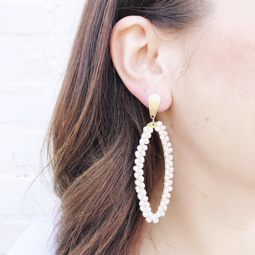 Moon and Lola - Taravai Pearl Earrings