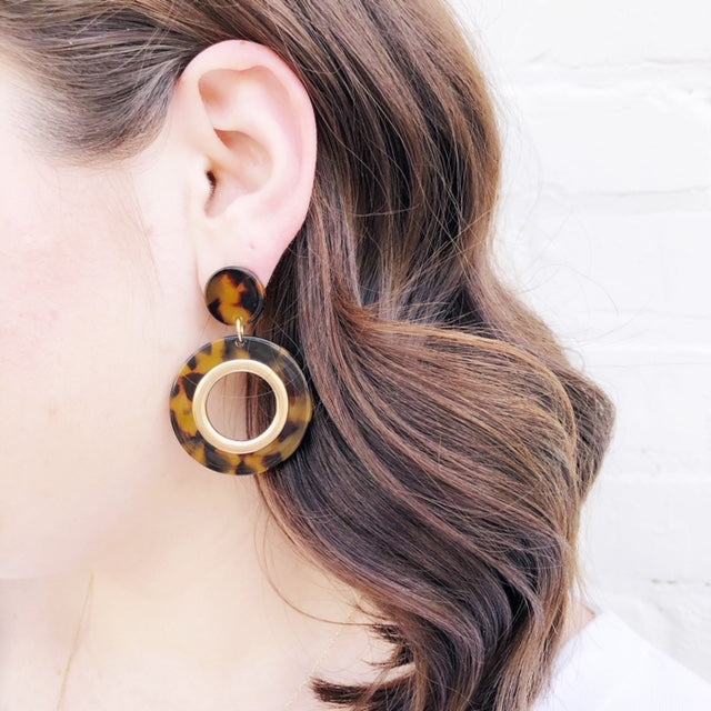 Moon and Lola - Tortoise Bethel Earrings