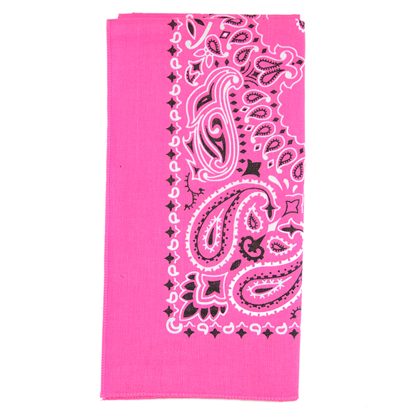 Moon and Lola - Traditional Bandana in Hot Pink