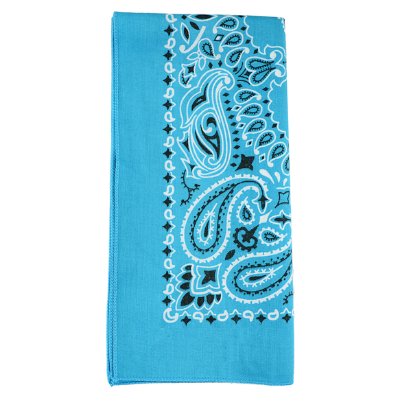 Moon and Lola - Traditional Bandana in Turquoise