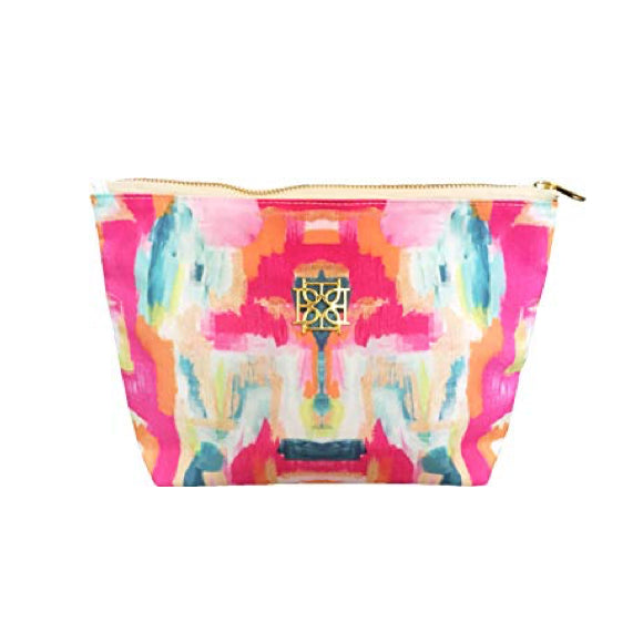 Moon and Lola - Blush Label Cosmetic Bag in Bombay print