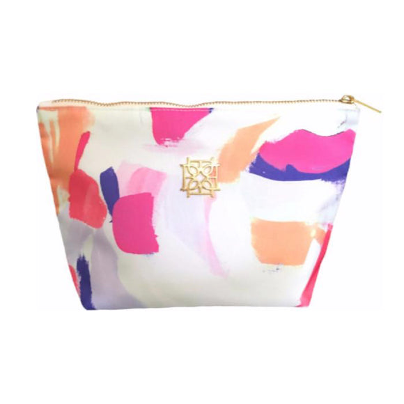 Moon and Lola - Blush Label Cosmetic Bag in Carnival print