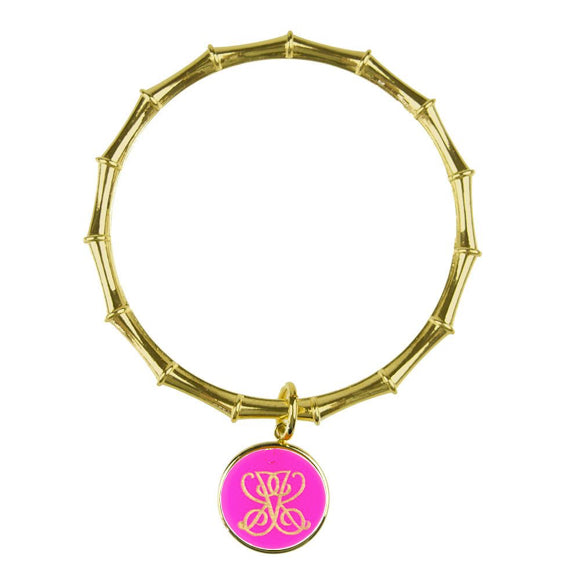 Moon and Lola xx Emily McCarthy Woven Font Bamboo Charm Bangle