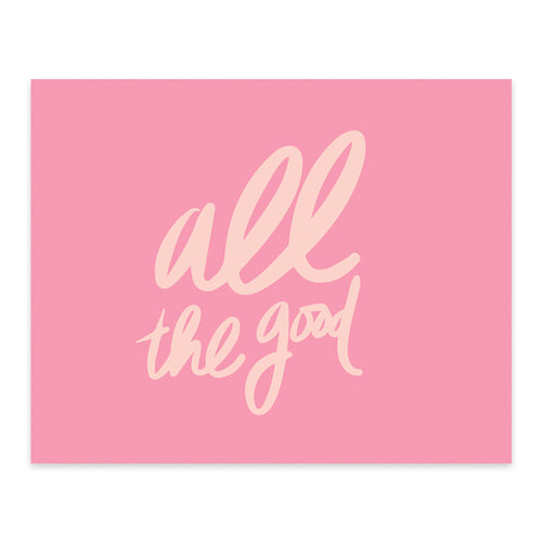 "Moon and Lola xx Thimblepress ""All The Good"" note card w/envelope"