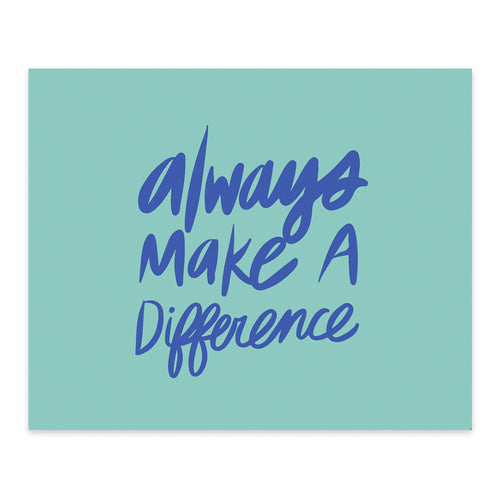 "Moon and Lola xx Thimblepress ""Always Make A Difference"" note card w/envelope"