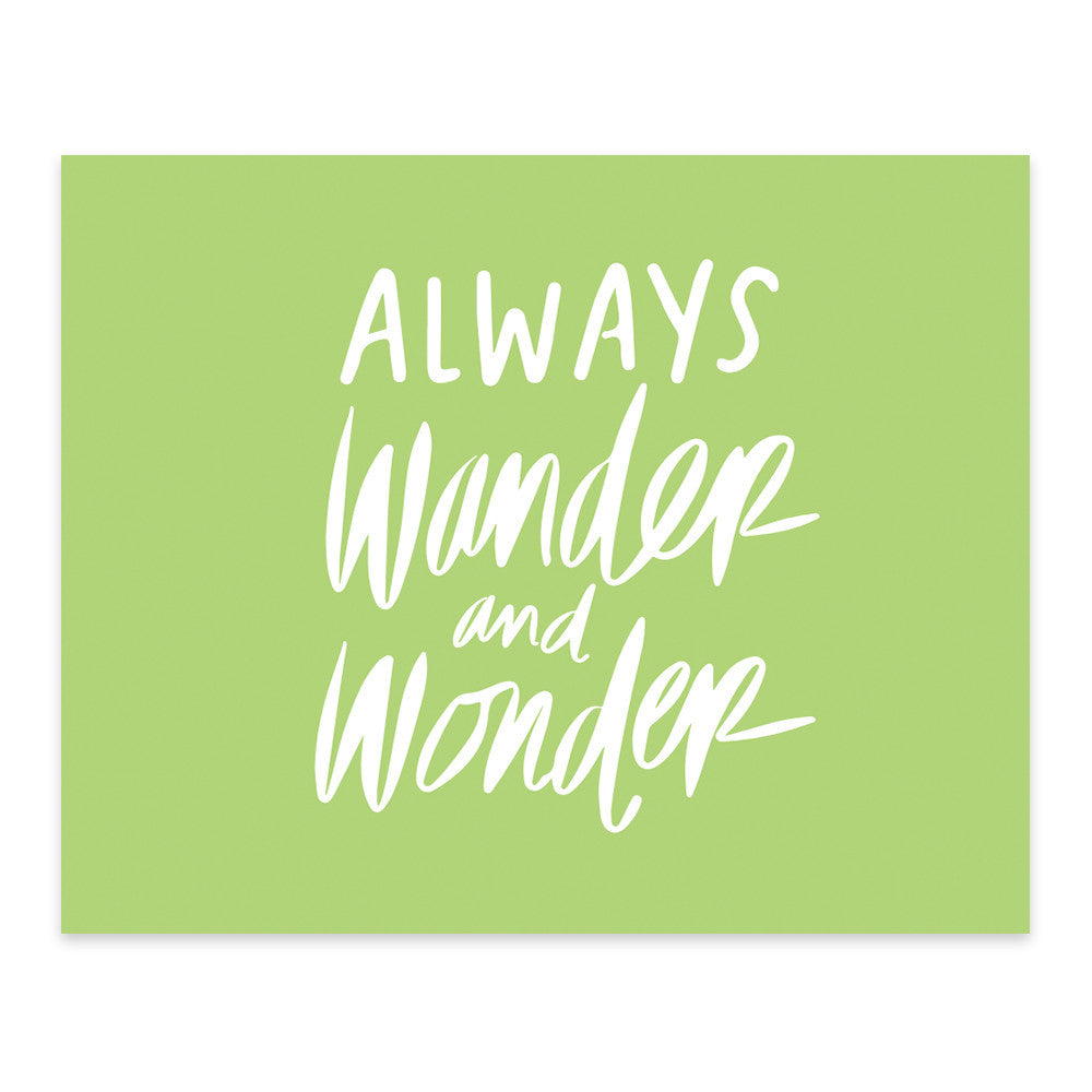 Moon and Lola xx Thimblepress - Always Wander and Wonder Note Card