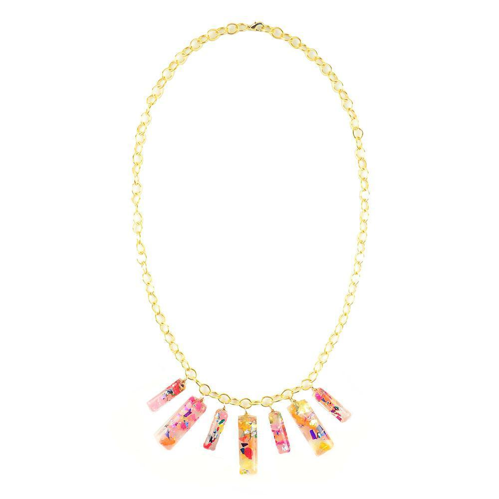 Moon and Lola xx Thimblepress - Confetti Bar Necklace