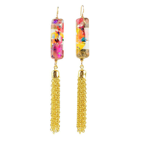ML xx TP Confetti Post Drop Earrings