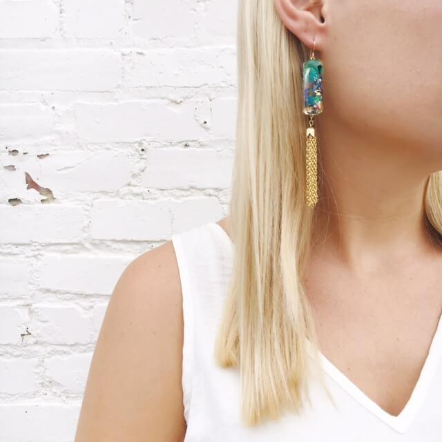 Moon and Lola xx Thimblepress - Confetti Tassel Earrings