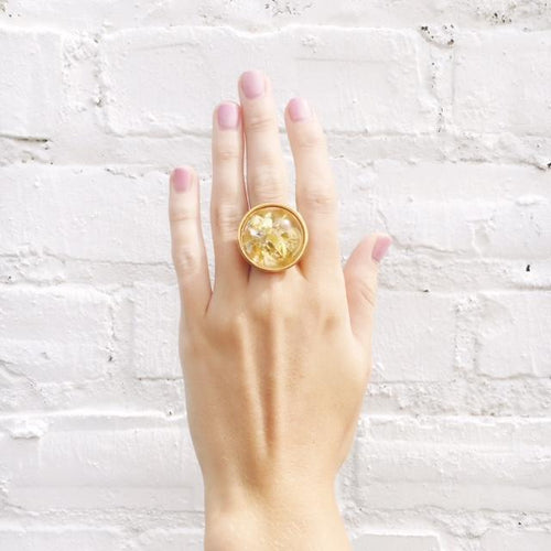 Moon and Lola xx Thimblepress - Confetti Round Ring