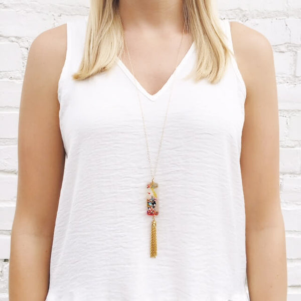 Moon and Lola xx Thimblepress - Confetti Tassel Necklace
