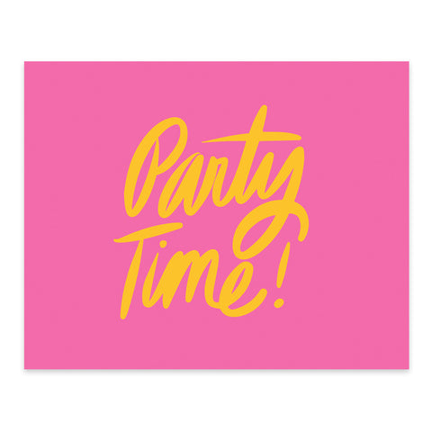 "ML xx TP ""Let's Party"" Note Card"