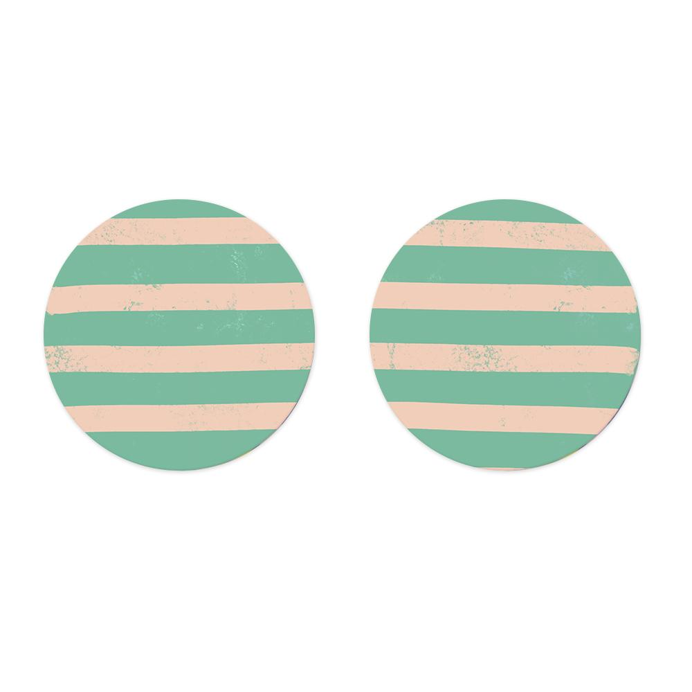 Moon and Lola xx Thimblepress - Patterned Disc Post Earrings