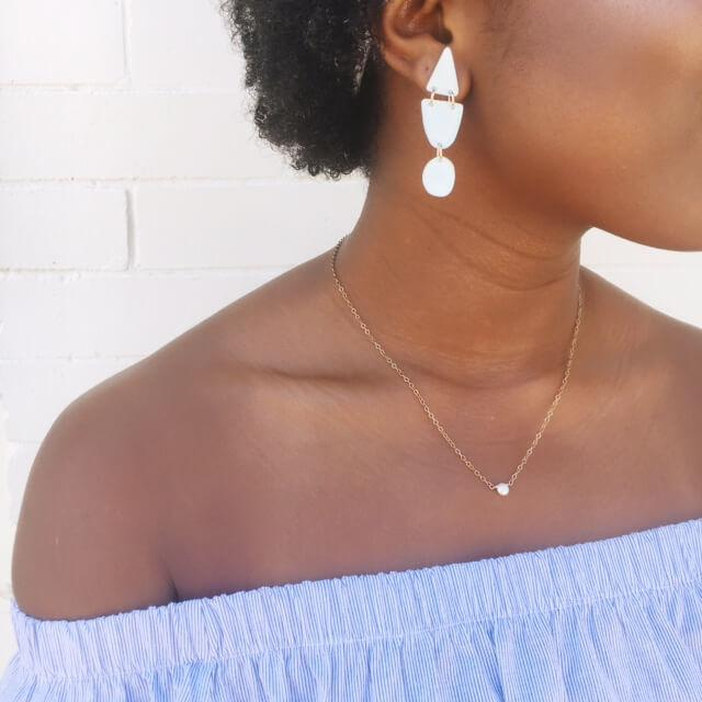 Moon and Lola xx Thimblepress - Triangle Drop Earrings