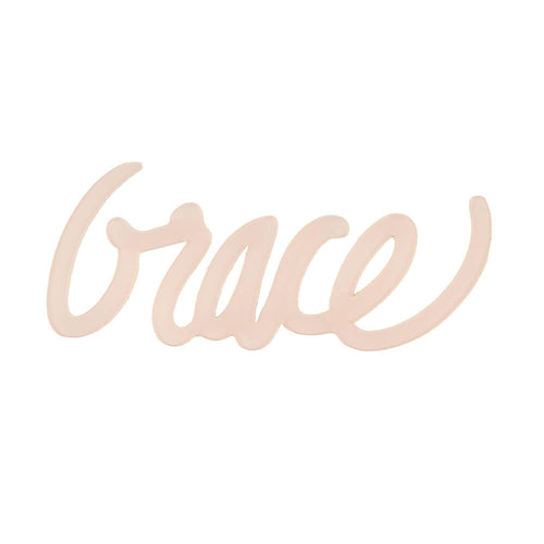 "Moon and Lola xx Thimblepress Word Wall Art ""Grace"" in peach color"