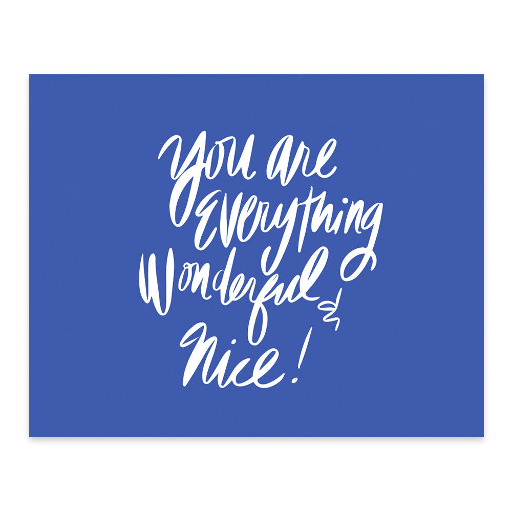Moon and Lola xx Thimblepress - You're Everything Wonderful and Nice Note Card