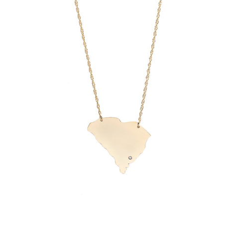 Metal State Heart Necklace