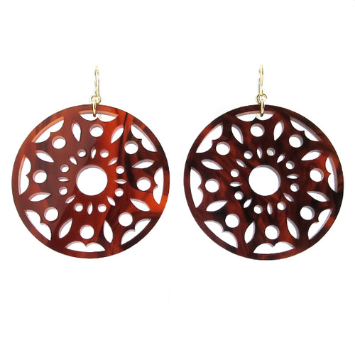 Moon and Lola - Pavia Earrings in Tortoise Shell