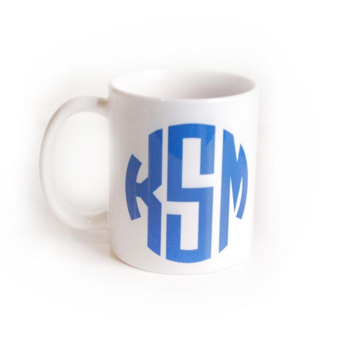 I found this at #moonandlola! - Monogram Coffee Mug