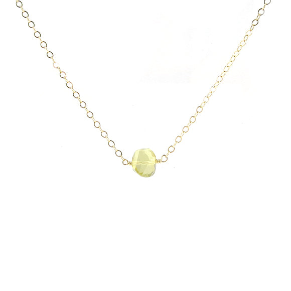 Moon and Lola - Lemon Quartz Necklace