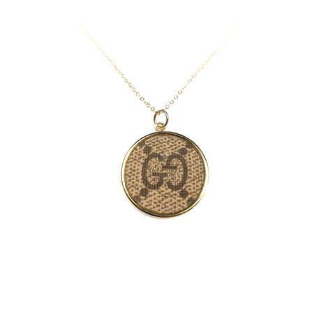 Leone Printed Oval Necklace