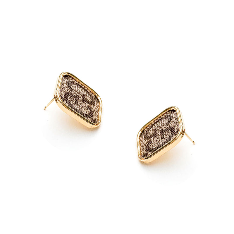 Moon and Lola - Goji Square Post Earrings
