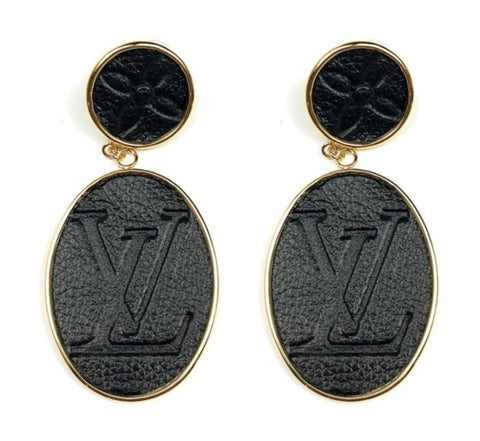 Leone Printed Post Drop Earrings