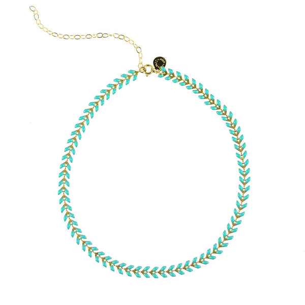 Kwai River Choker Necklace Turquoise