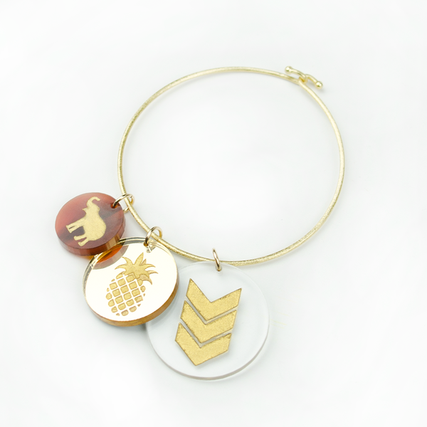 I found this at #moonandlola! - Small Medium and Large Eden Charms on Nora Bangle