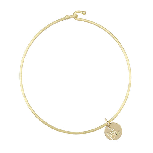 I found this at #moonandlola! - Nora Bangle Gold