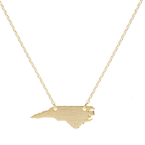 Moon and Lola - Brass North Carolina Necklace
