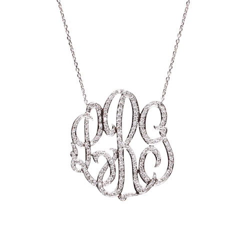 "Sample ""TSF"" Cheshire Handcut Monogram Necklace"