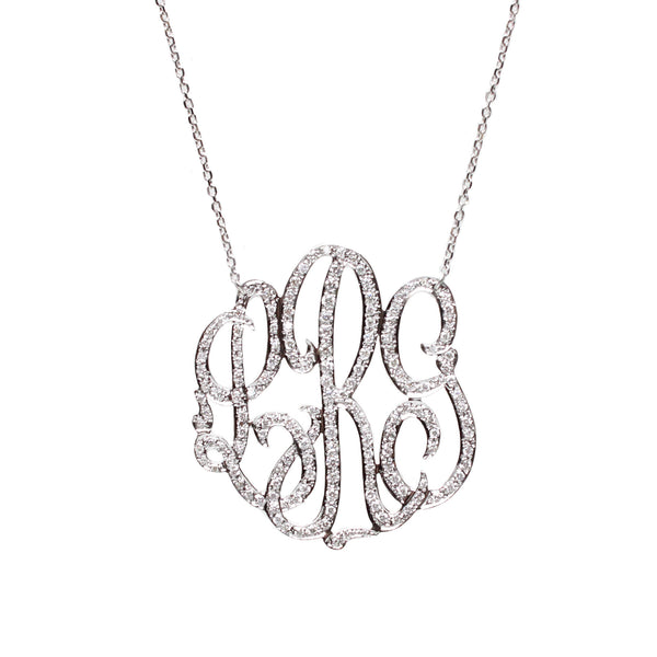 I found this at #moonandlola - Omiya Diamond Monogram Necklace