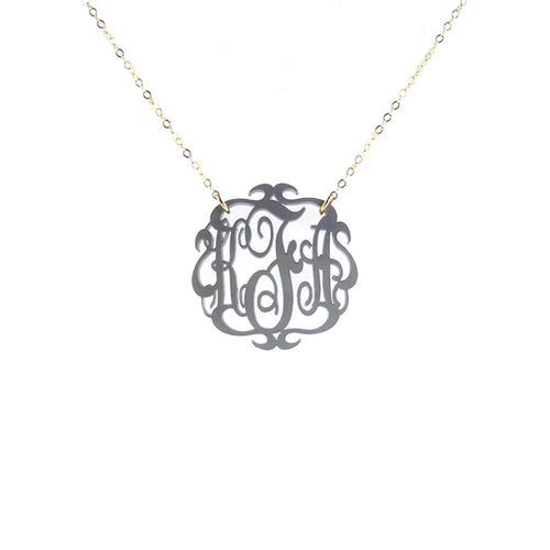 Moon and Lola - Paris Monogram Necklace