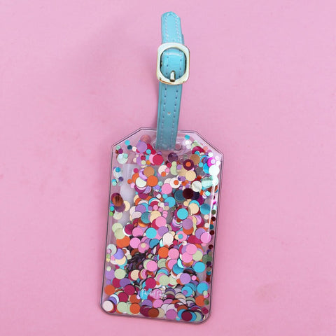Moon and Lola - Packed Party Confetti Luggage Tag