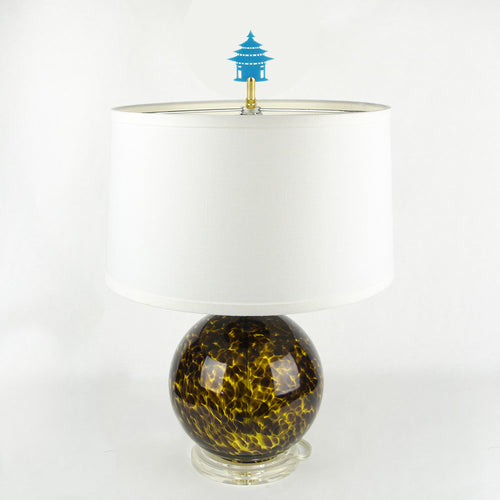 I found this at #moonandlola! - Pagoda Finial on lamp