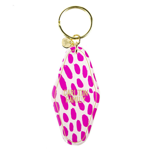 I found this at #moonandlola! - Patterned Hotel Key Chain Custom