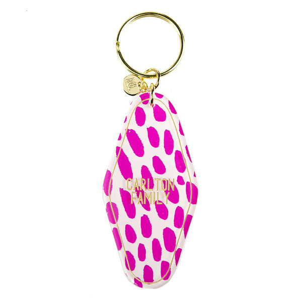 Moon and Lola - Patterned Hotel Key Chain Custom