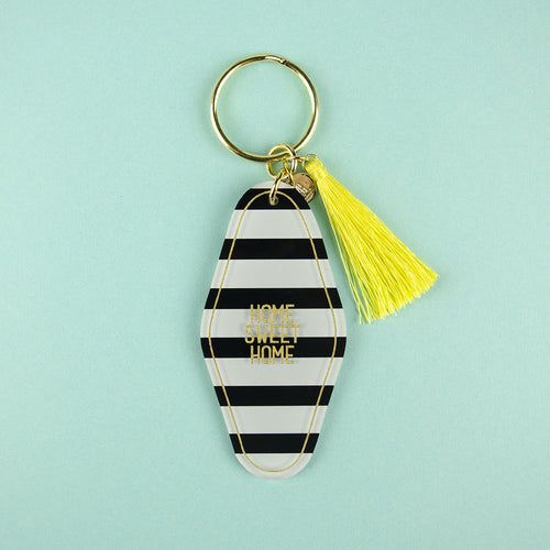 I found this at #moonandlola! - Patterned Hotel Keychain with Charms