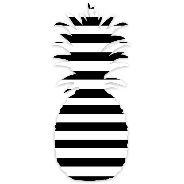 I found this at #moonandlola! - Patterned Pineapple Wall Art Black and White Stripes