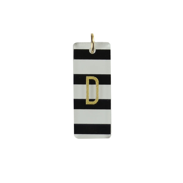 Moon and Lola - Patterned Rectangle Charm
