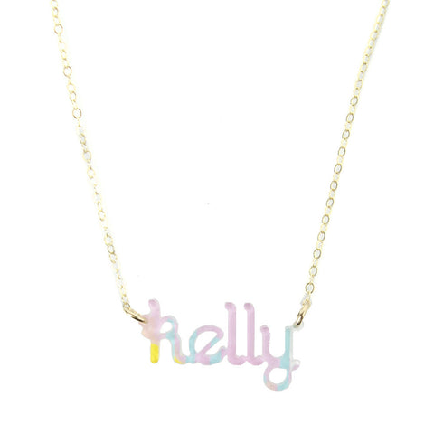 (Z) Sample Nameplate Necklaces