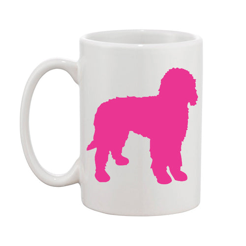 I found this at #moonandlola! - Pet Mug Hot Pink Labradoodle